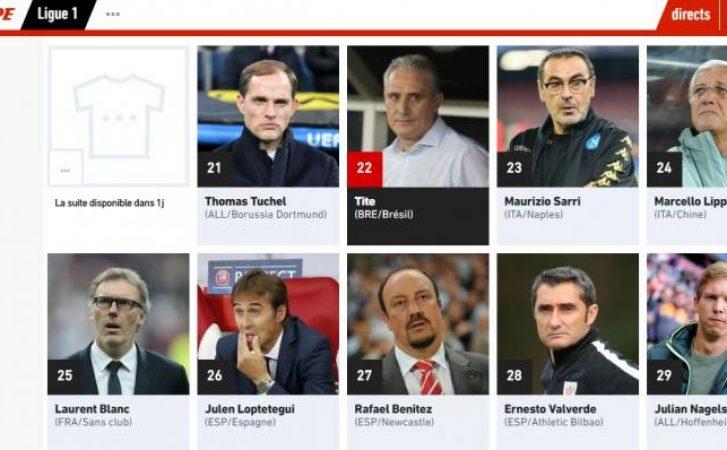 L'Equipe incorona Sarri: c'è il suo nome fra quelli dei 50 migliori allenatori al mondo