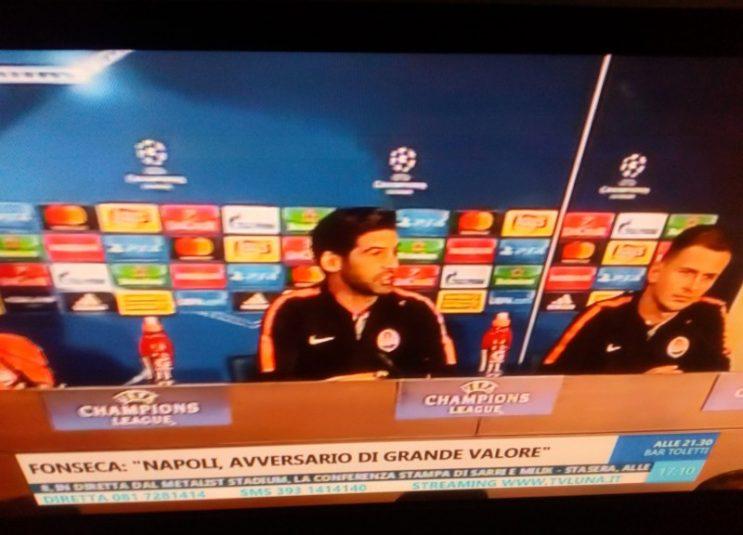 Shakhtar Donetsk Napoli streaming da vedere gratis live diretta mercoledì 13 Settembre